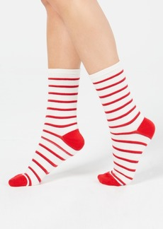 Charter Club Women's Striped Crew Socks, Created for Macy's