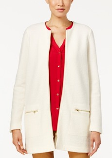 Charter Club Wool Zip-Front Duster Cardigan, Only at Macy's