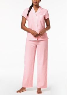 Charter Club Woven Pajama Set, Created for Macy's