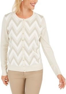 Charter Club Zigzag-Print Cardigan, Created for Macy's