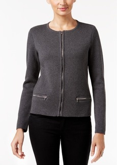 Charter Club Zip-Up Cardigan, Only at Macy's