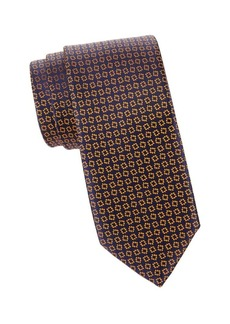 Charvet Abstract Diamond Silk Tie