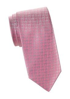 Charvet Abstract Grid Silk Tie