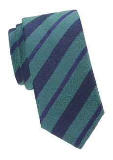 Charvet Alternating Stripes Wool & Silk Tie