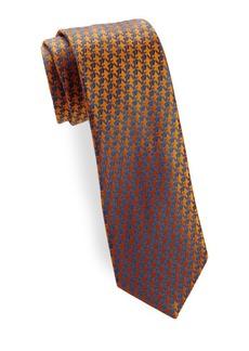 Charvet Anchor Pattern Silk Tie