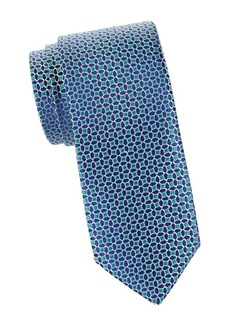 Charvet Beehive Grid Silk Tie