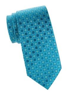 Charvet Button Neat Silk Tie