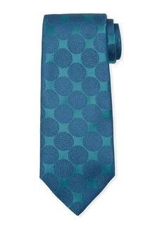 Charvet Adjoining Large-Dot Silk Tie