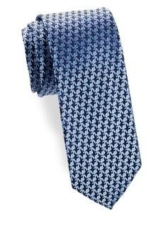 Charvet Anchor Silk Narrow Tie