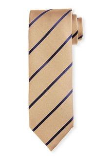 Charvet Diagonal Stripe Silk Tie