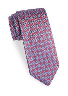 Charvet Flower Design Silk Tie