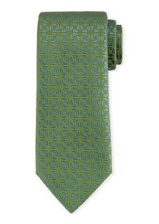 Charvet Fire-Flower Print Silk Tie