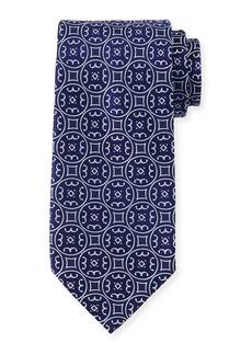 Charvet Large-Medallion Silk Tie