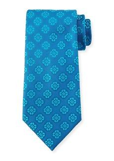 Charvet Medallion-Print Silk Tie