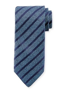 Charvet Melange Striped Silk-Blend Tie