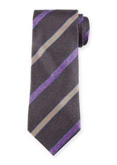 Charvet Melange Striped Silk Tie