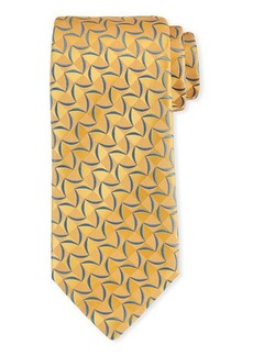 Charvet Patterned Tonal-Box Print Silk Tie