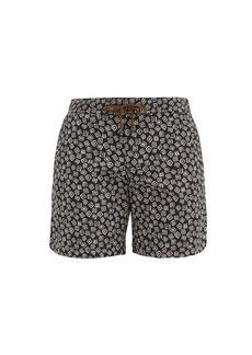 Charvet x Thorsun Floating squares-print swim shorts