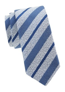 Charvet Diagonal Stripe Silk Wool Tie