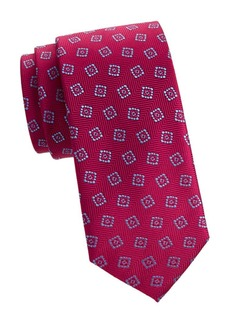 Charvet Embroidery Herringbone Silk Tie
