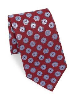 Charvet Flake Print Silk Tie