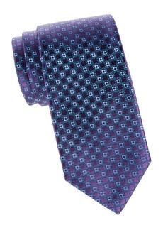Charvet Geometric Neat Silk Tie