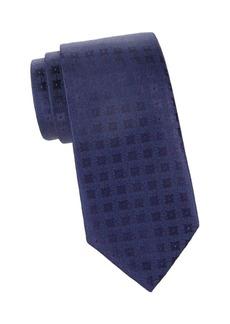 Charvet Gridded Floral Silk Tie