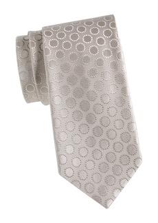 Charvet Large Scale Circle Medallion Silk Tie