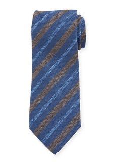 Charvet Men's Silk Diagonal Stripe Tie