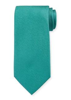 Charvet Men's Silk Tonal Medallion Tie