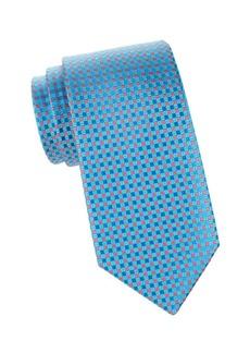 Charvet Mini Grid Silk Tie