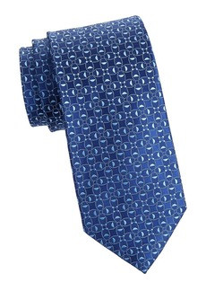 Charvet Neat Abstract Circle Silk Tie