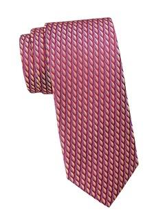 Charvet Neat Contrast Color Brush Silk Tie