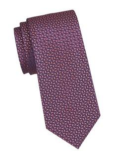 Charvet Neat Ivy Leaf Silk Tie