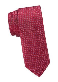 Charvet Neat Square Silk Tie