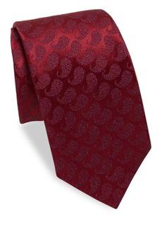 Charvet Paisley Silk & Linen Tie