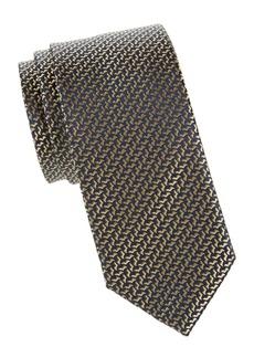Charvet Patterned Woven Slk Tie