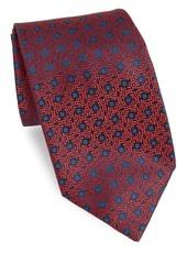 Charvet Silk Abstract Floral Medallion Tie