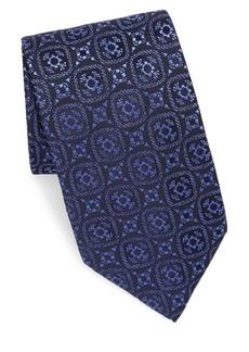 Charvet Silk Diamond-Print Tie