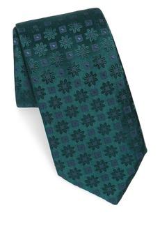 Charvet Silk Edelweiss-Print Tie