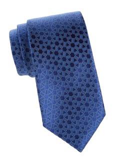 Charvet Silk Geometric Circle Tie