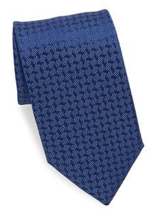 Charvet Silk Geometric-Print Tie