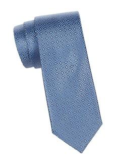 Charvet Skewed Square Jacquard Silk Tie