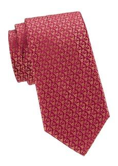 Charvet Split Diamond-Print Silk Tie