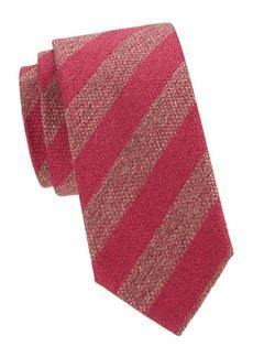 Charvet Striped Wool & Silk Tie