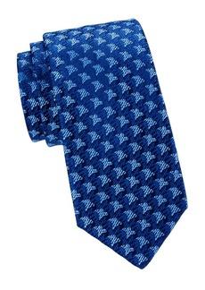 Charvet Textured Floral Medallion Silk Tie