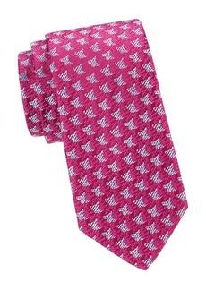 Charvet Textured Medallion Silk Tie