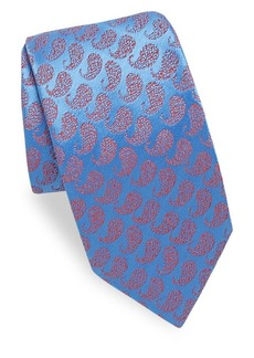 Charvet Textured Paisley Silk Tie