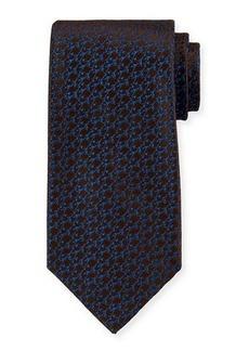 Charvet Thorns Pattern Silk Tie