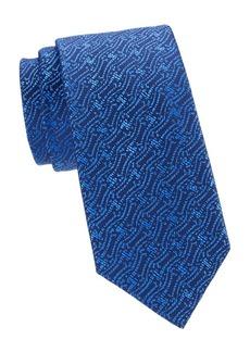 Charvet Tonal Pattern Silk Tie